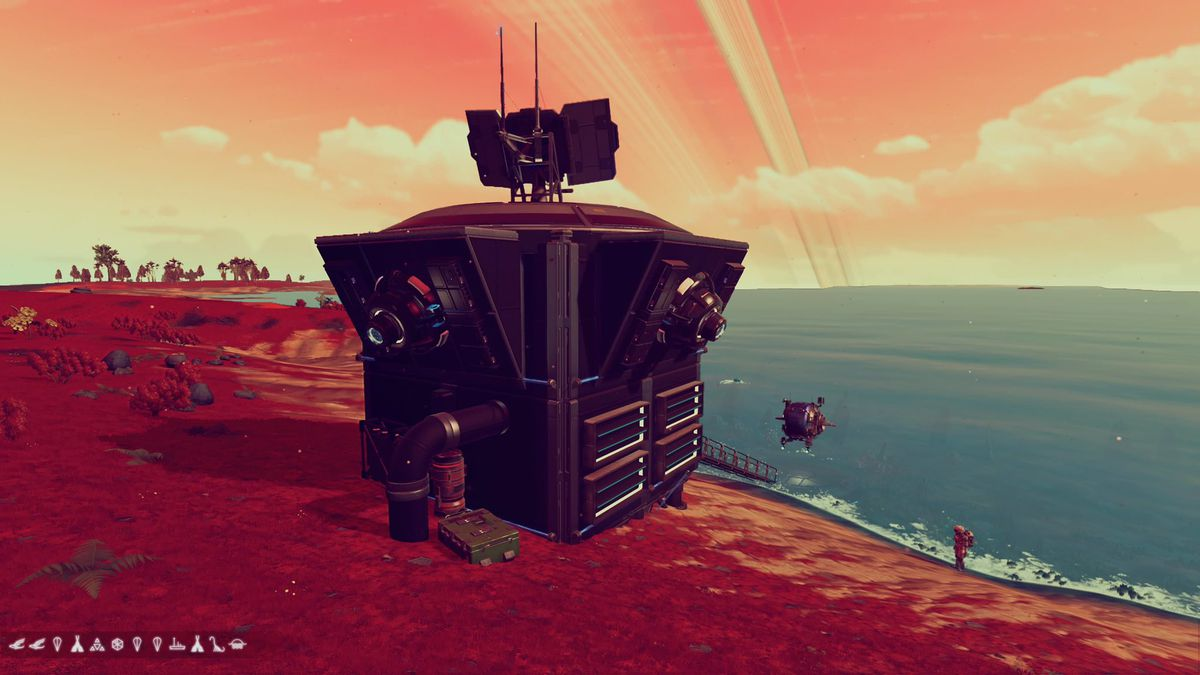 A tiny home within No Man's Sky.