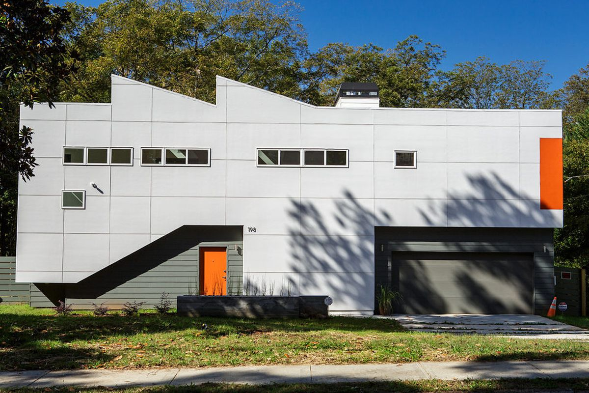 A recently finished modern house at 198 Mayson Ave. in Edgewood.
