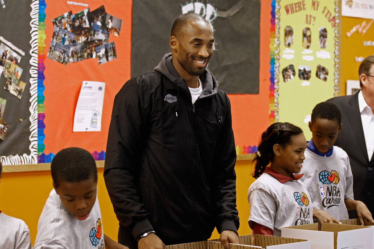 Kobe Bryant has worked with various children's groups through NBA Cares.