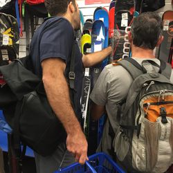 Sports gear like skis and snowboards were especially popular