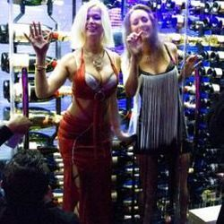 Don't forget there are ladies in the champagne fridge.