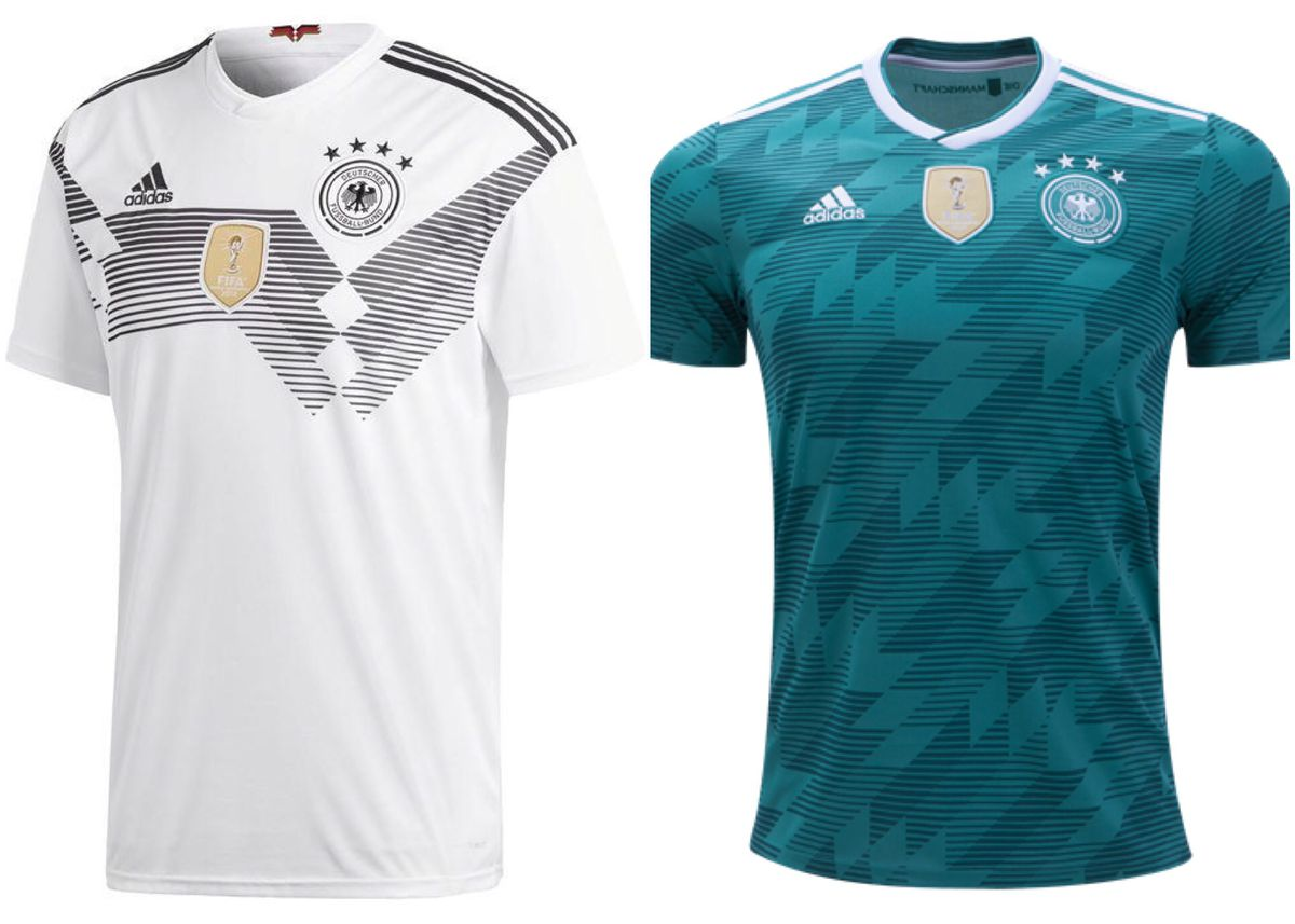 fa644104775 Germany s take on their 1990 jerseys is flawless. The home jersey is a  traditional look with a modern style