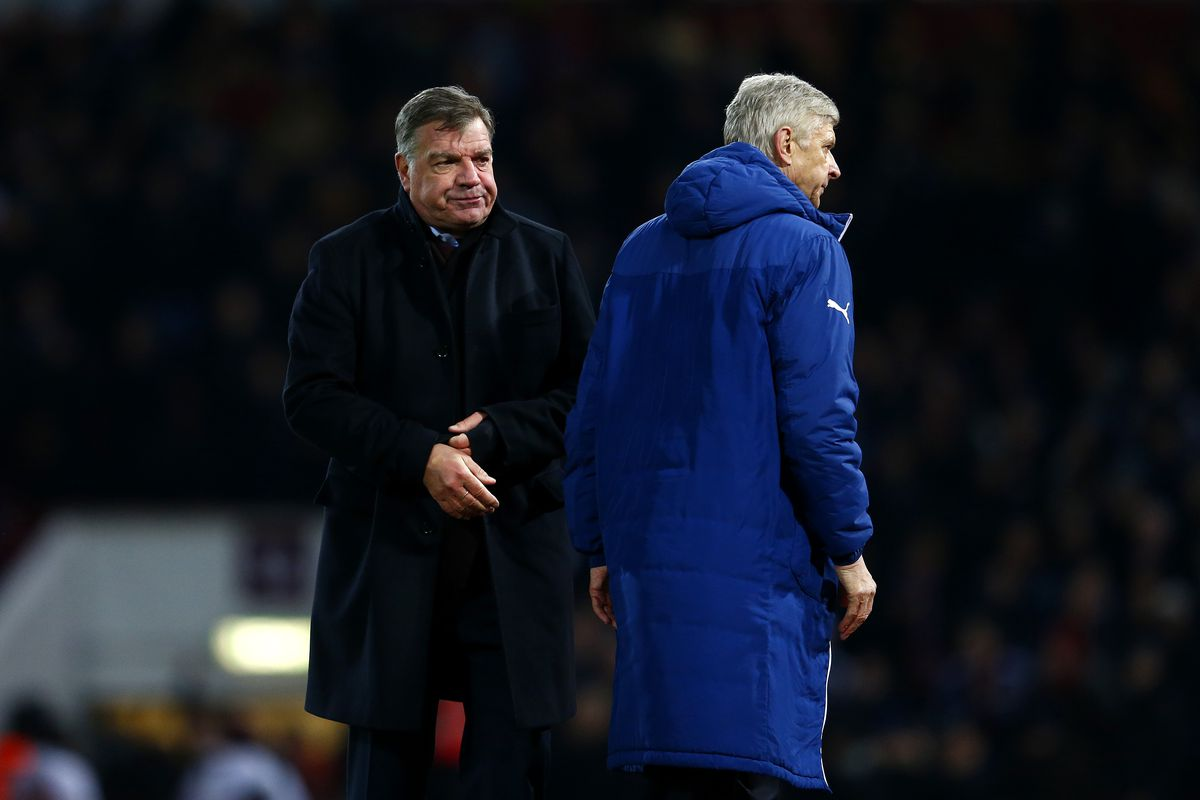 Clearly, Wenger's more interested in a big DM than a Big Sam.