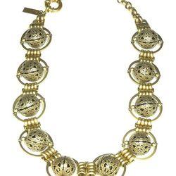 "<b>Auden</b> Lunar Strand Short <a href=""http://www.audendesign.com/store/necklaces/lunar-short-necklace-cage/"">necklace</a>, $358 Henri Bendel"