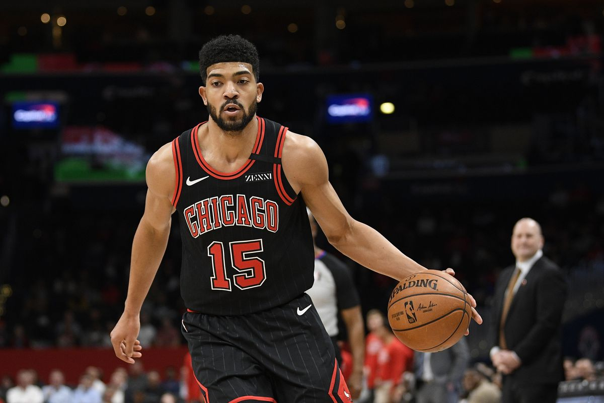 Bulls forward Chandler Hutchison (15) is averaging 7.8 points and 3.9 rebounds in his second NBA season. But he's played in only 28 of the Bulls' 56 games because of injuries.