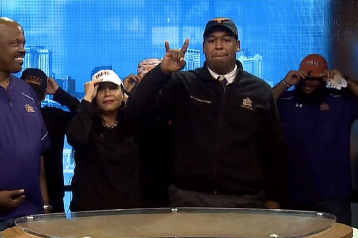 D'Andre Christmas-Giles making his announcement