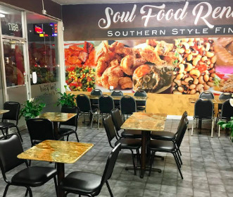Soul Food Renaissance's dining room in Long Beach