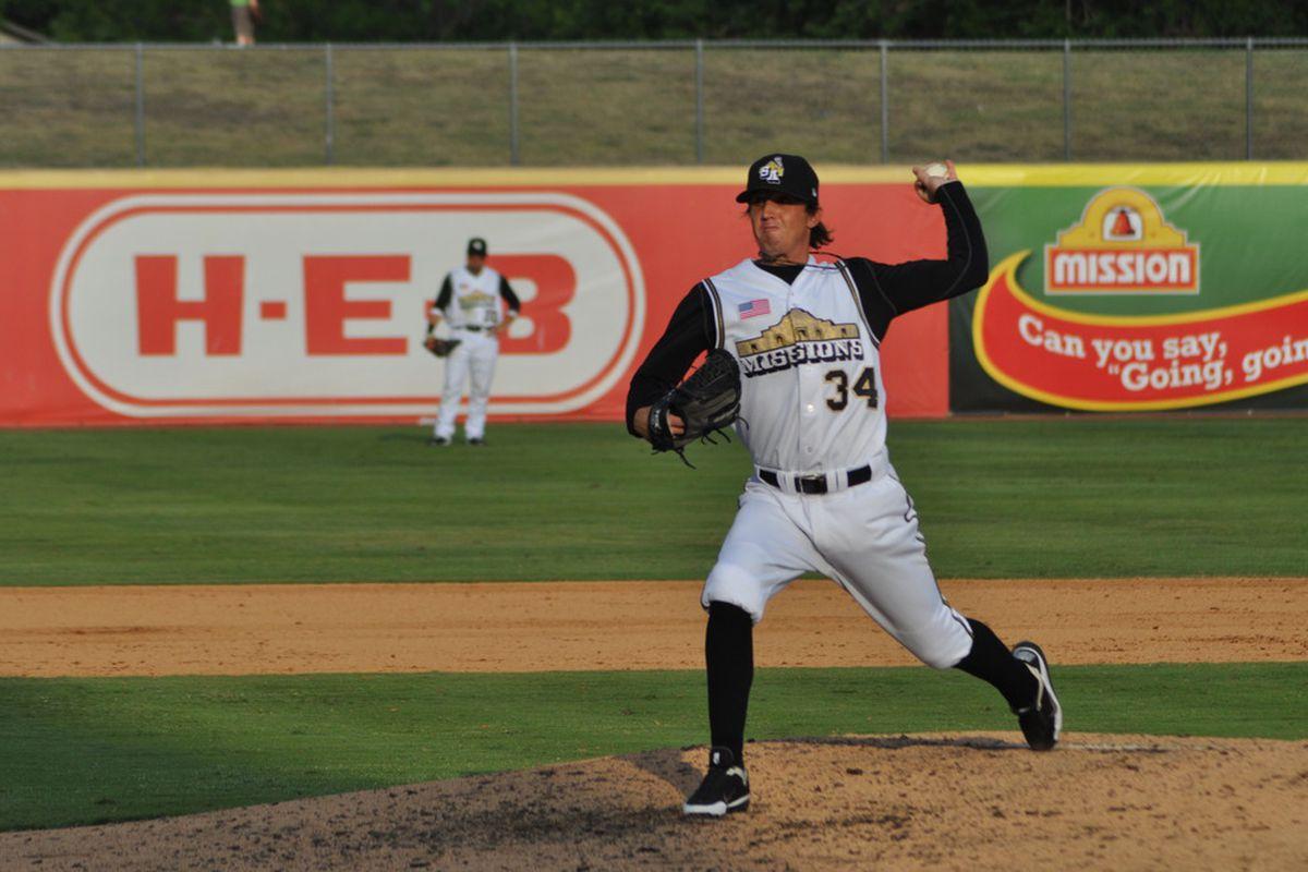 San Diego Padres pitching prospect Josh Spence (Photo courtesy of San Antonio Missions)