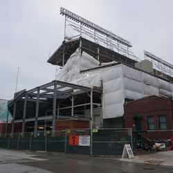 The northwest corner of the ballpark, along Waveland Avenue