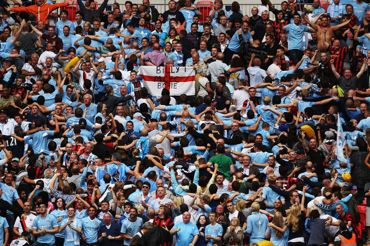 I don't think these City fans were from Santa Monica.