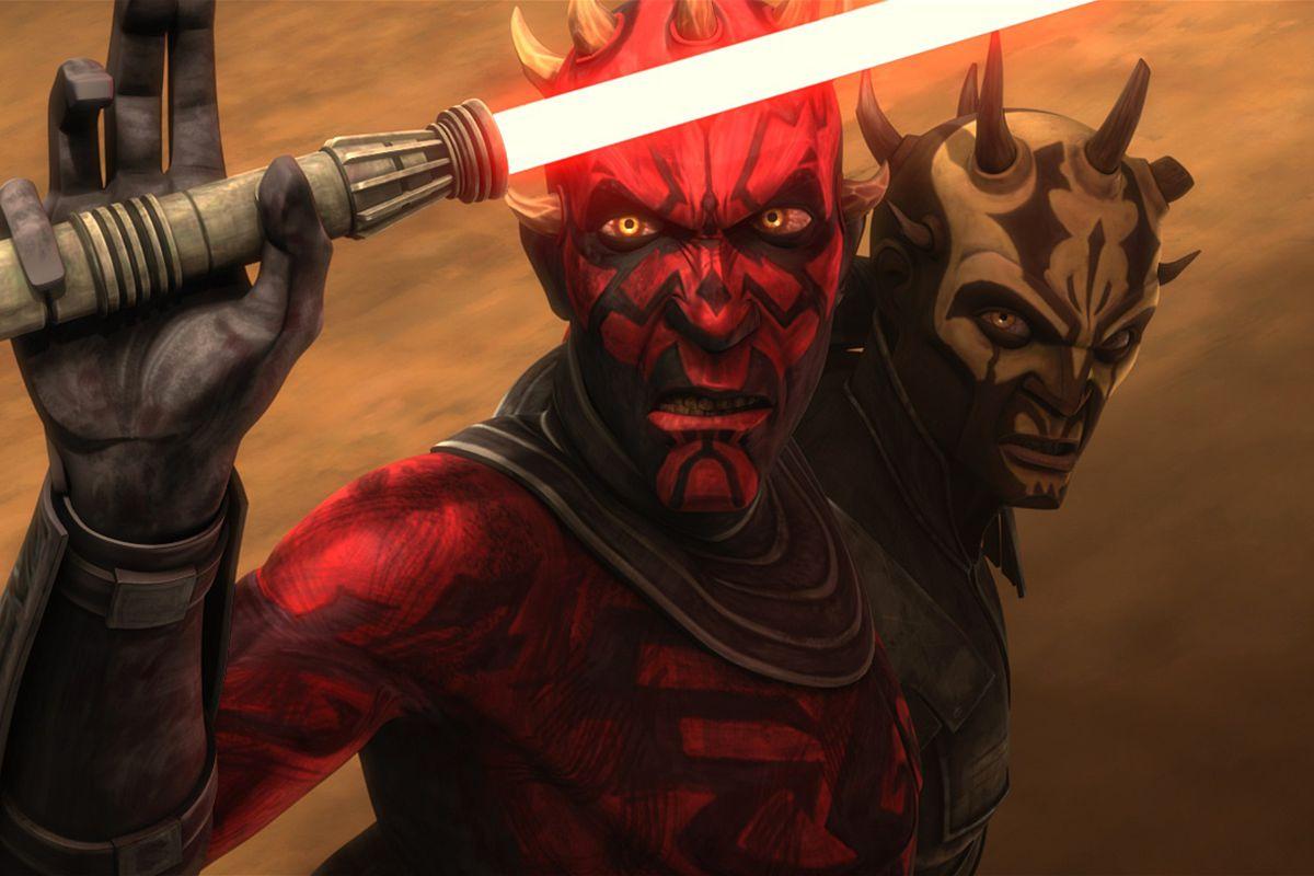 clone wars season 5 darth maul holds his lightsaber