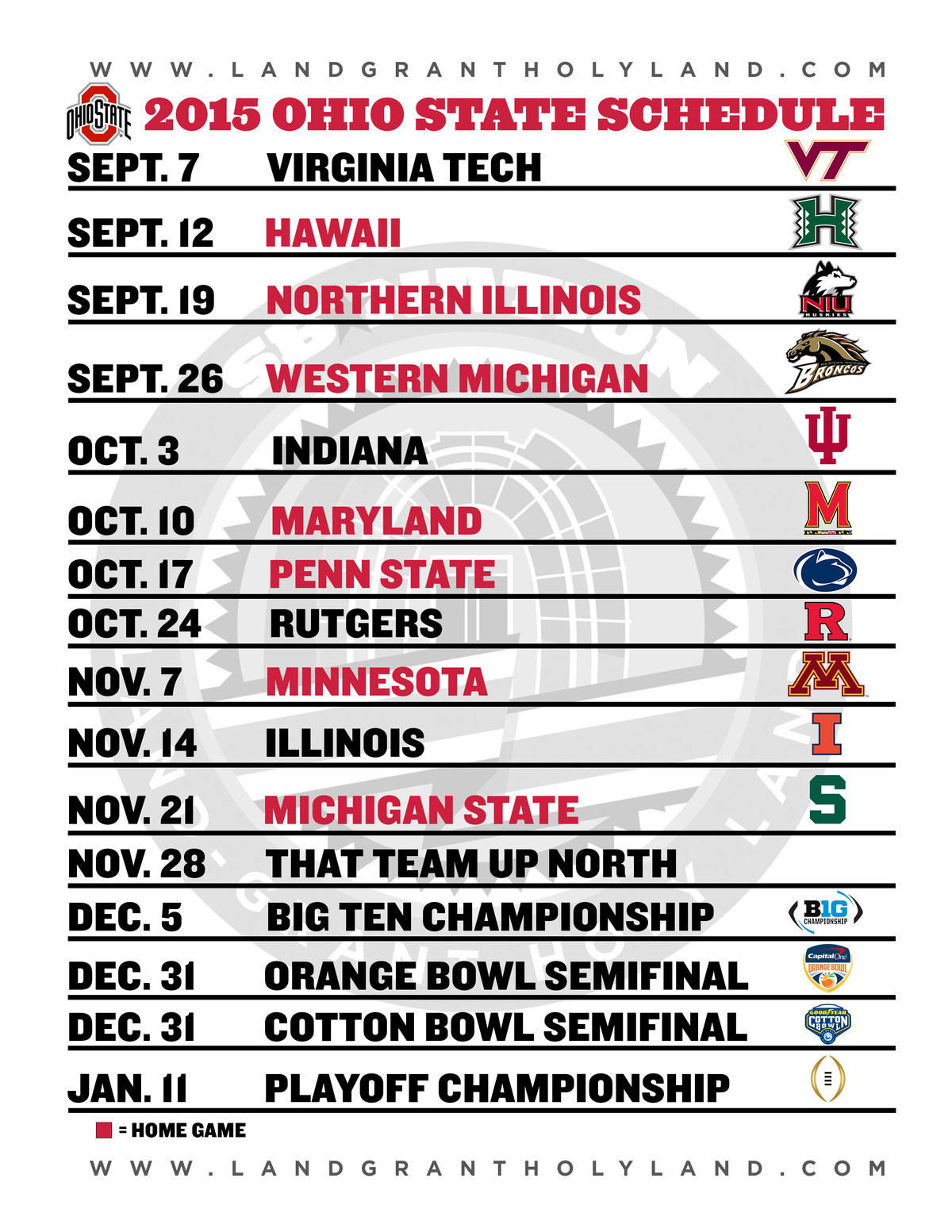 2020 Ohio State Football Schedule.Ohio State Football Schedule 2019 Ohio State Buckeyes