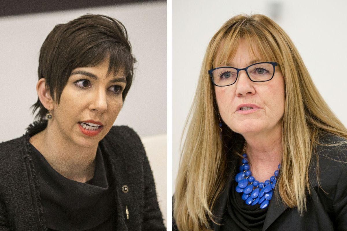 Anne M. Stava-Murray, left; Melinda Bush, right