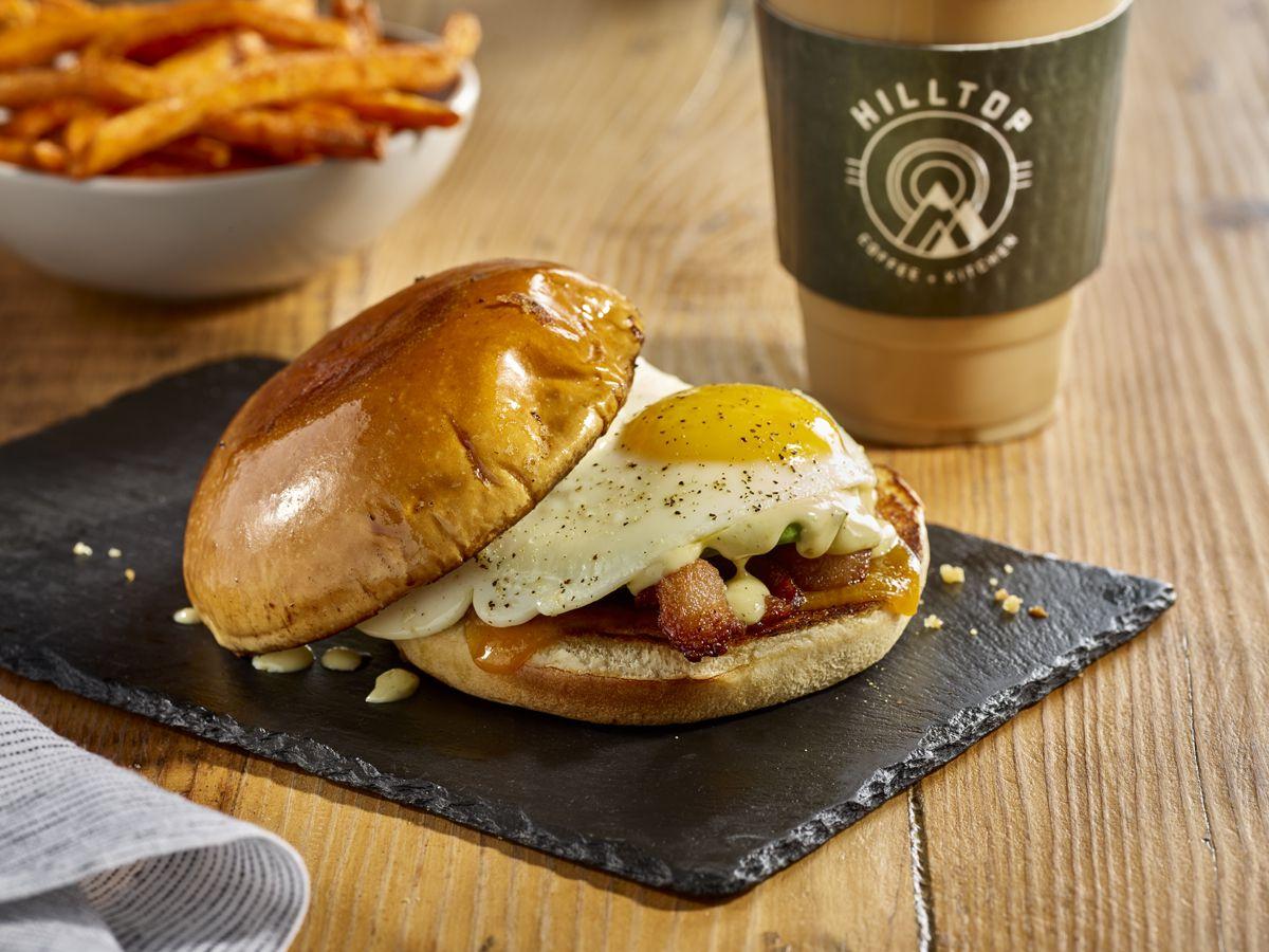 Hilltop Coffee + Kitchen's breakfast sandwich