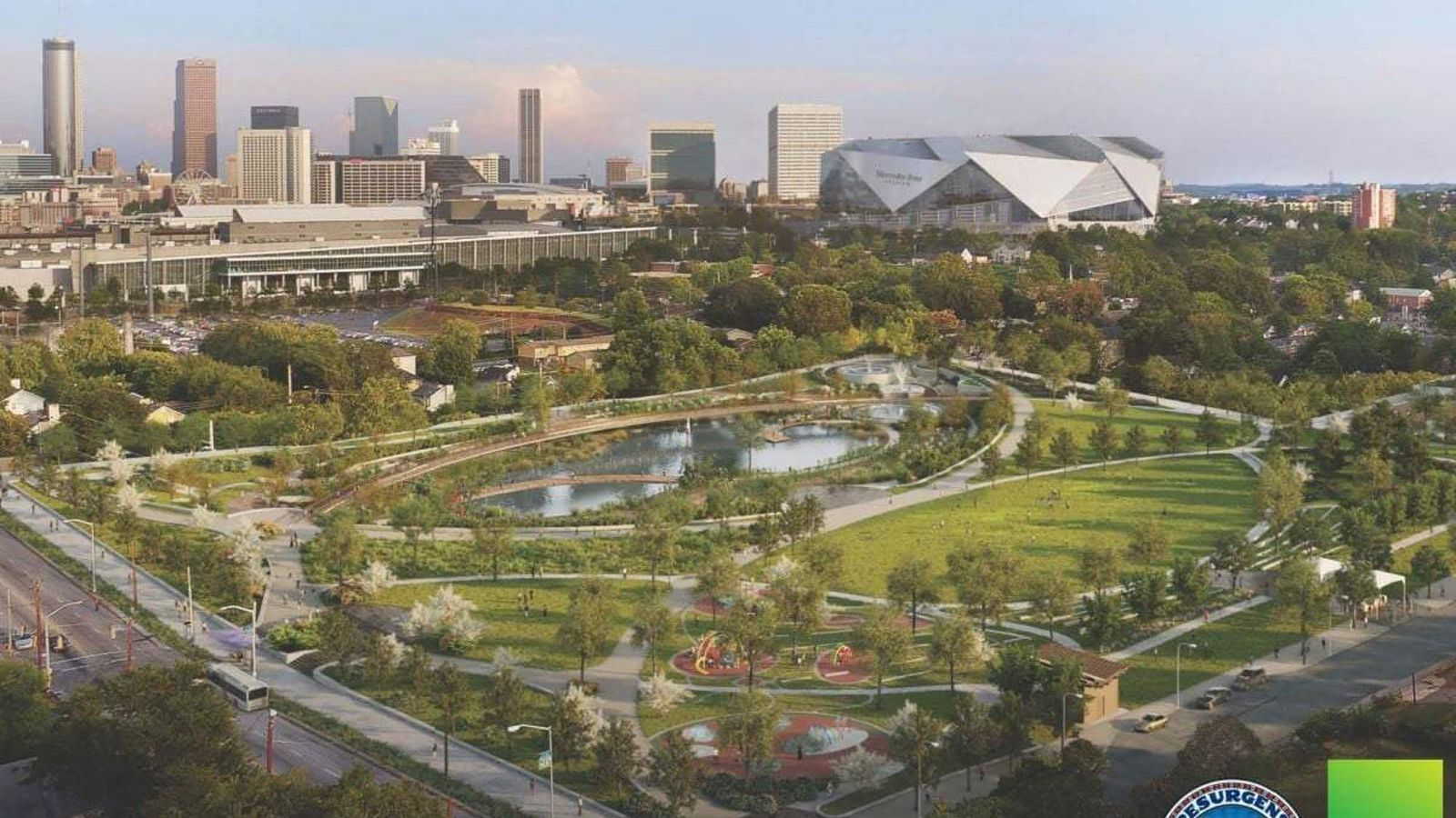 On Atlanta\'s Westside, Vine City park has dazzling renderings, May ...