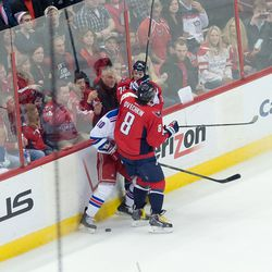 Ovechkin and Carlson Converge on Miller