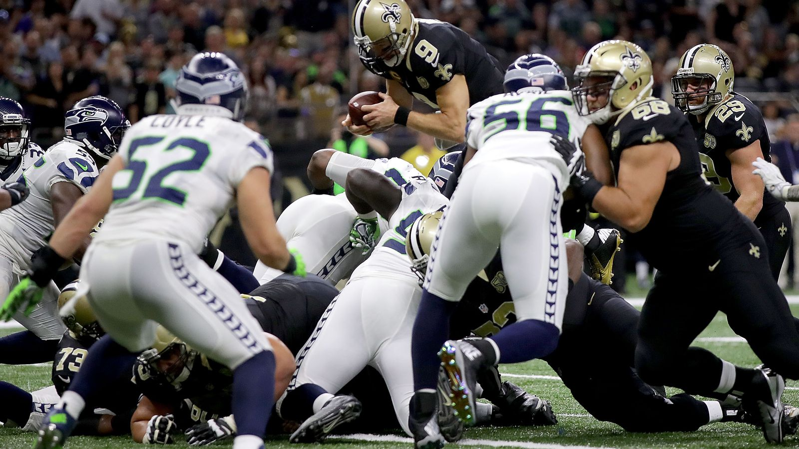 25 30 Seattle: Seattle Seahawks-New Orleans Saints Final Score: Time Runs