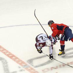 Ovechkin Takes Down Landeskog