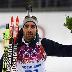 We don't think biathlon winner Martin Fourcade can take a bad picture