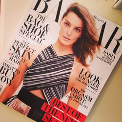 Pretty pumped to see Canadian model Daria Werbowy on the February cover of Harper's Bazaar. I interviewed her in Toronto a few years back and she was so inspiring. She was just taking off on her hiatus then. Even more beautiful in person. Like jaw-droppin