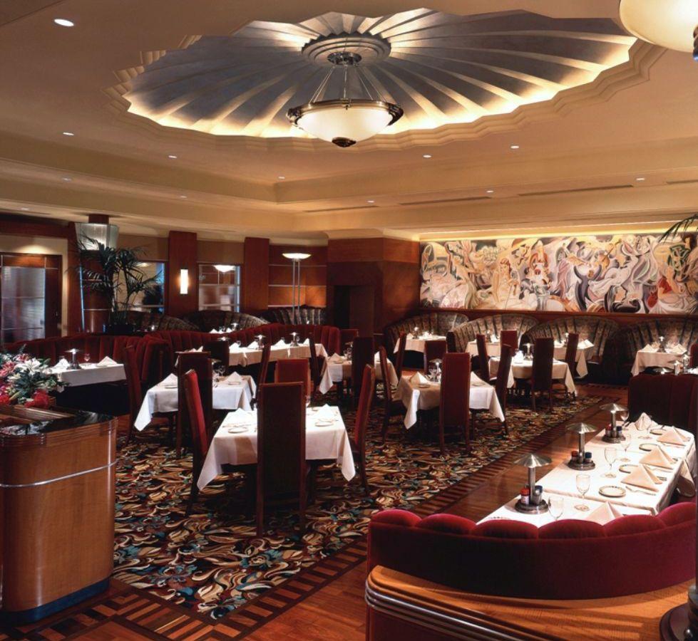 A handsome steakhouse interior