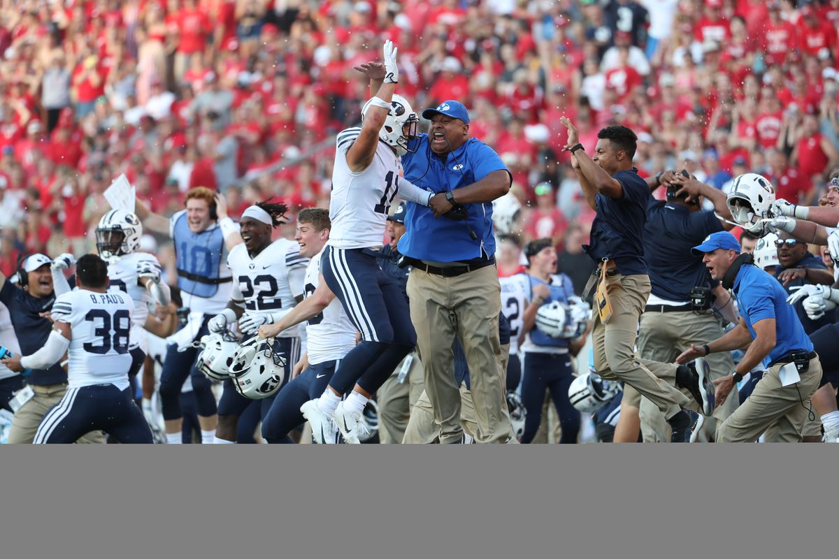 During the Wisconsin versus BYU football game at Camp Randall Stadium in Madison, WI in Salt Lake City on Saturday, Sept. 15, 2018.