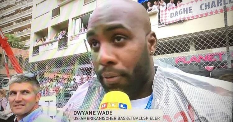 This German TV station thought a random dude at the Monaco GP was Dwyane Wade