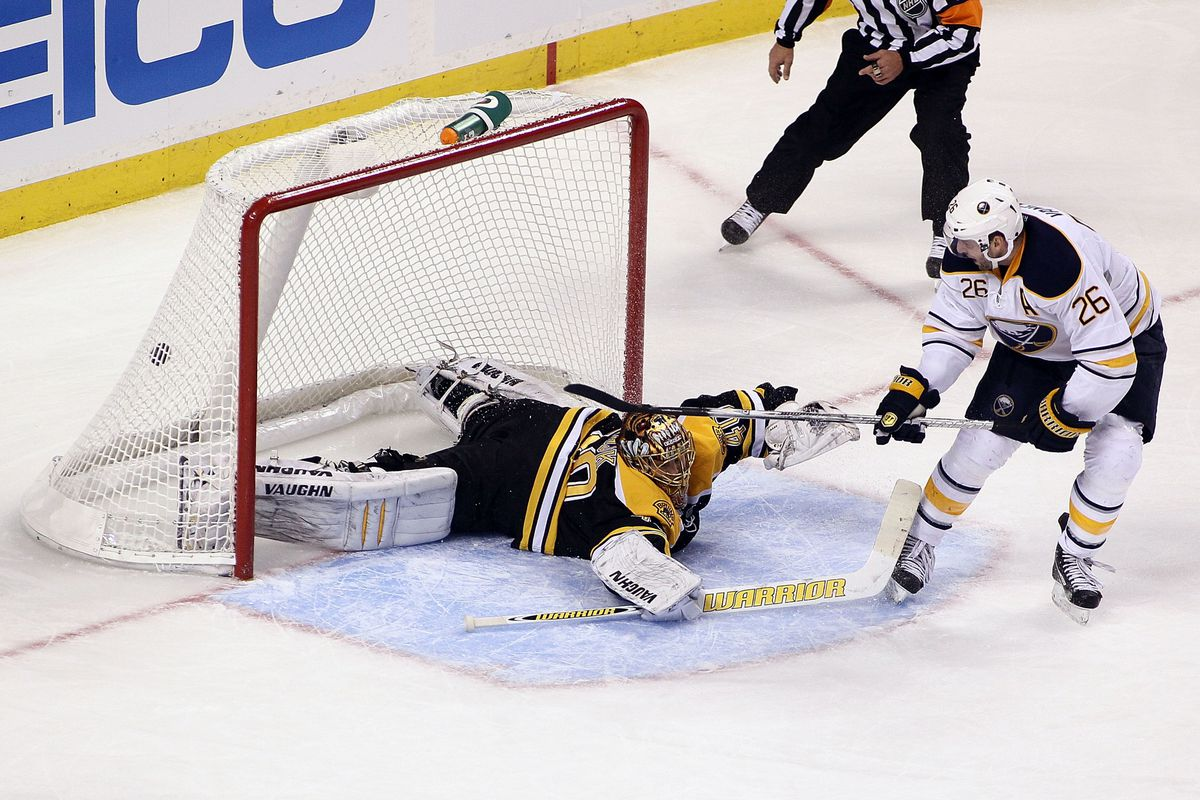 This, somehow, was not the worst defensive mistake the Bruins made in their 7-4 loss to Buffalo on Thursday night.