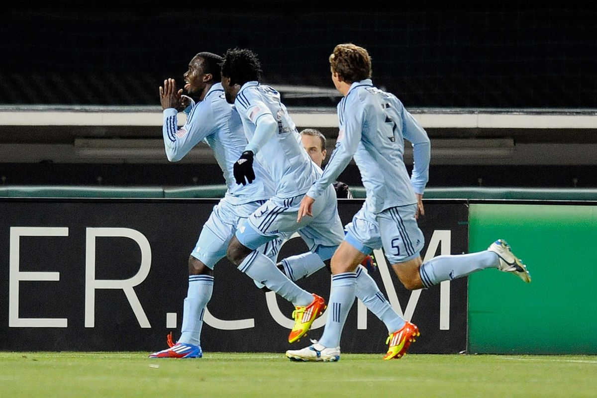 Expect to see a lot of this from Sporting this season.  With the talent they have up front led by CJ Sapong scoring goals should not be a problem.