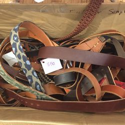 Michael Bastian belts, $50