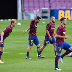 Messi and Co warm up