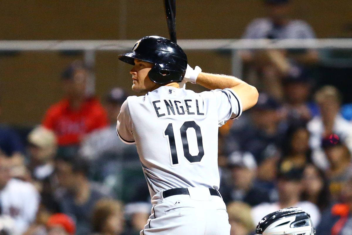 Adam Engel, along with Jacob May and Brad Goldberg, are added to the Chicago White Sox 40-man roster.