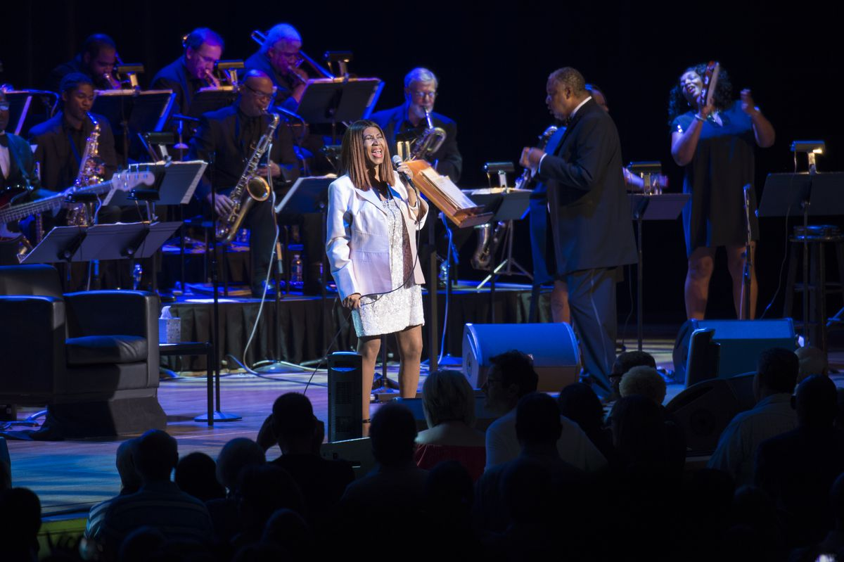 Aretha Franklin in what would become her final performance at Ravinia, in 2017. | Patrick Gipson