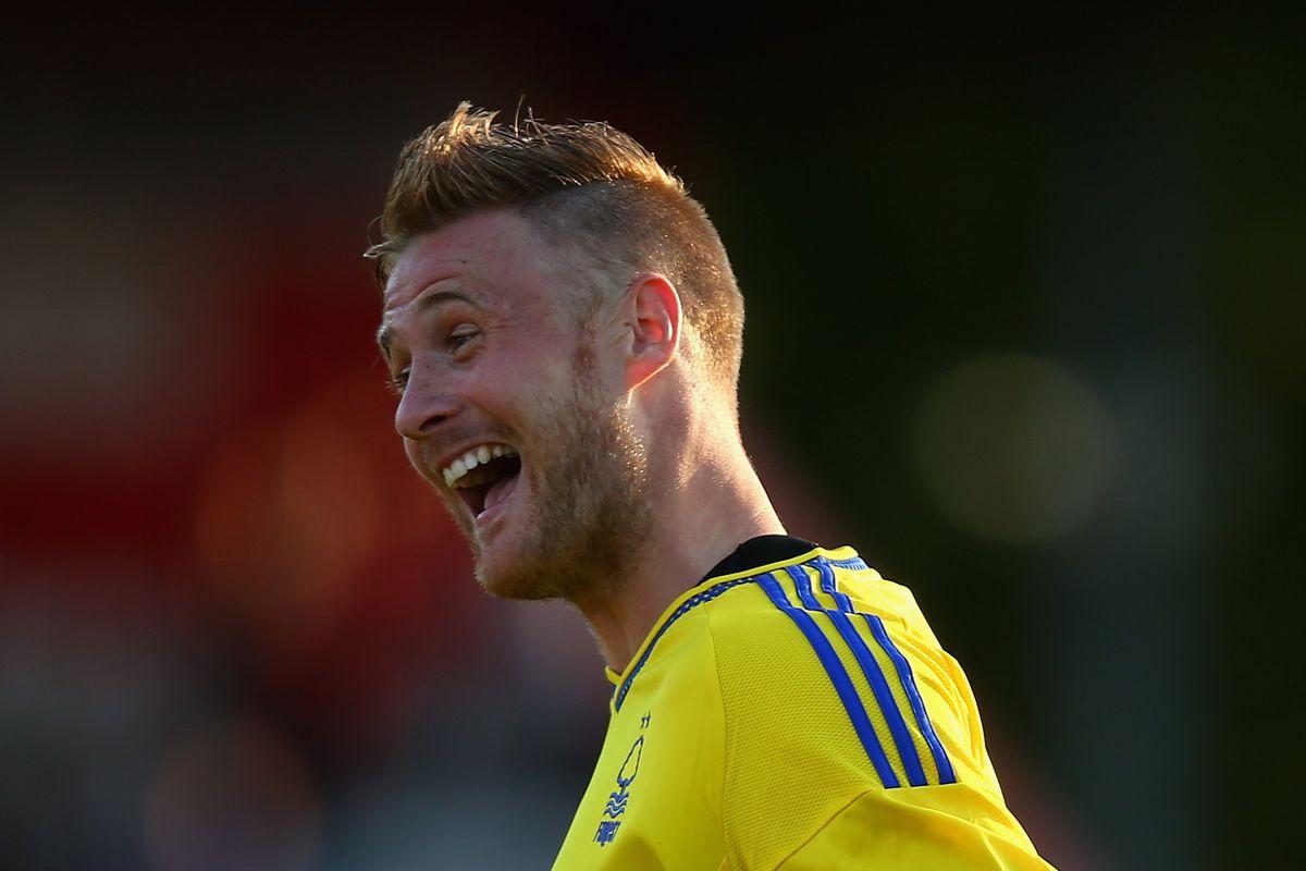 Matt Mills looks as surprised as anyone after scoring against Stevenage