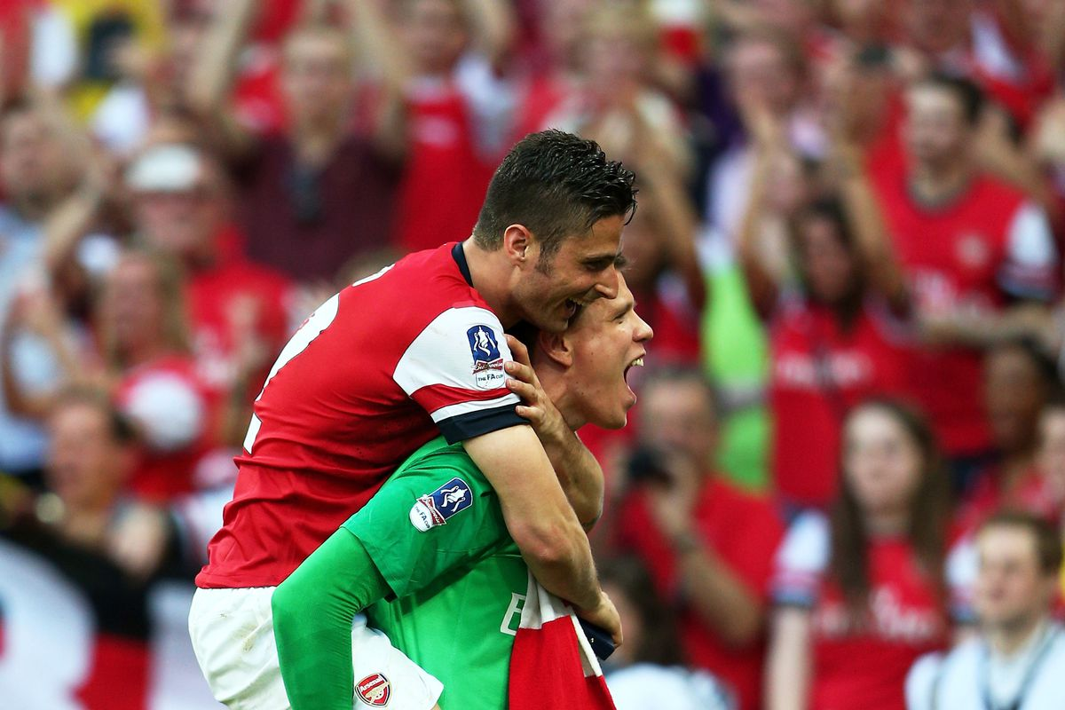 I'm OK with  him carrying Arsenal on his back