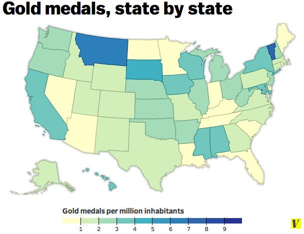 gold medal map