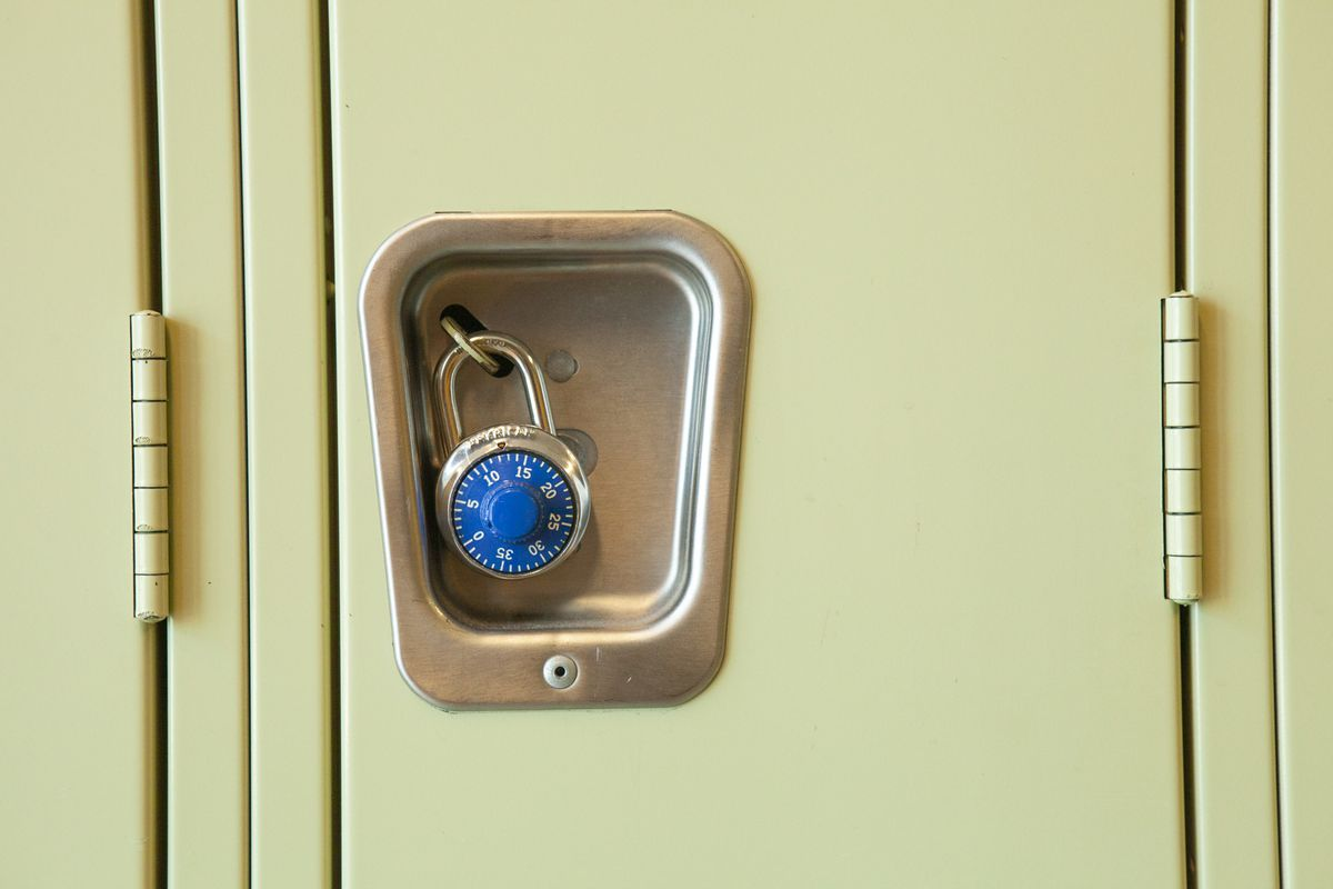 A locker in a Chicago high school.