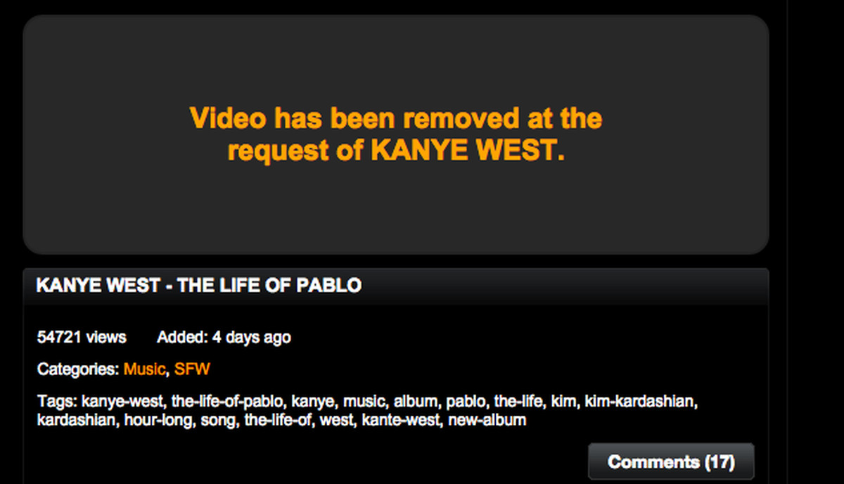 Kanye Wests The Life Of Pablo Is Streaming On Pornhub - The Verge-5755