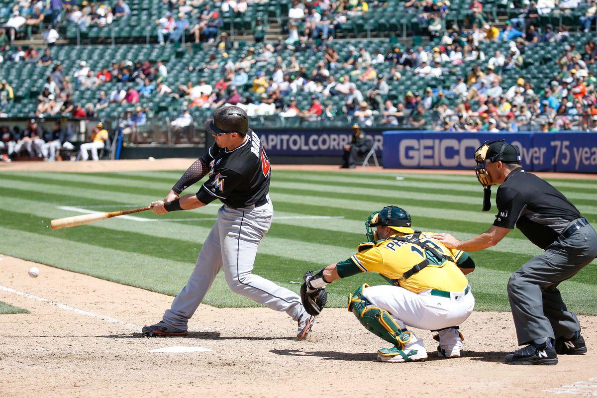 MLB: Miami Marlins at Oakland Athletics