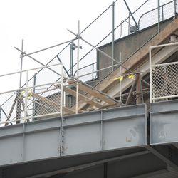 1:08 p.m. Back fence piece missing, along Sheffield -