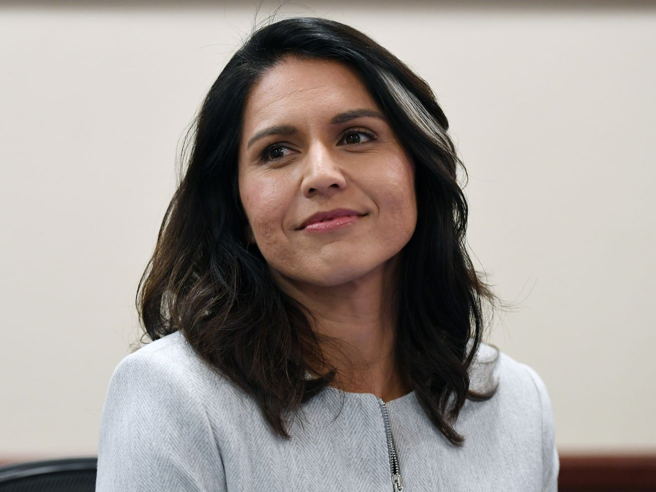 Rep. Tulsi Gabbard (D-HI), one of the members of the women veterans House caucus, on March 18, 2019, in Las Vegas, Nevada.
