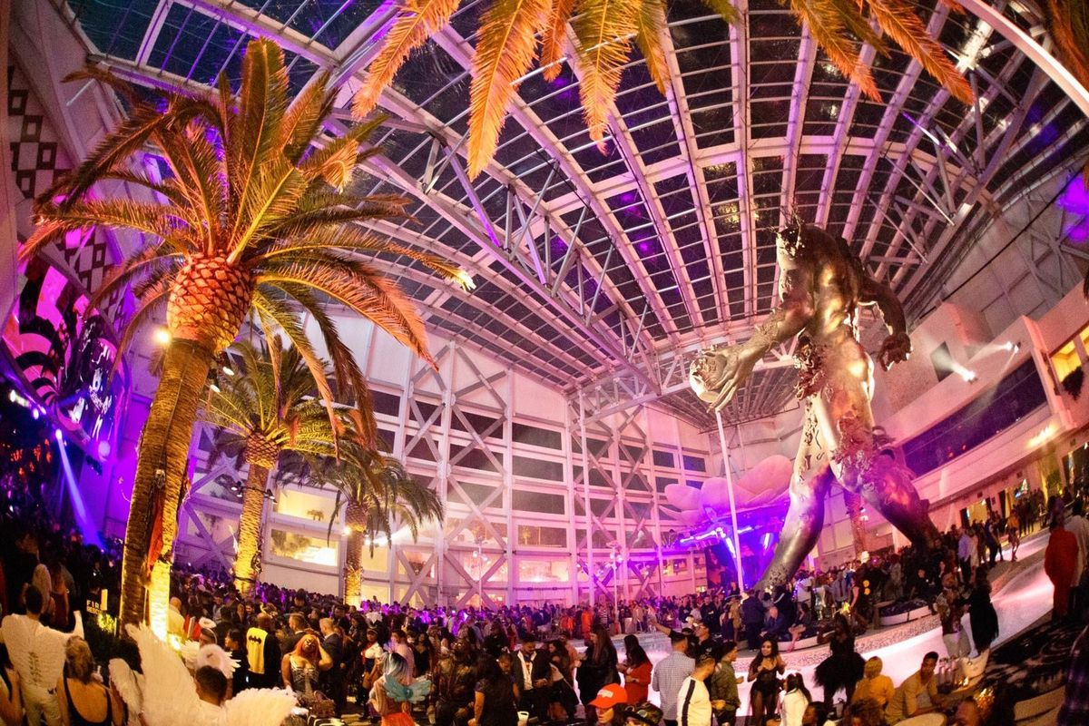 A nightlife scene in Las Vegas