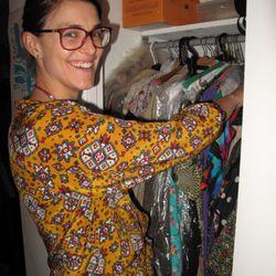 Mankins in her closet