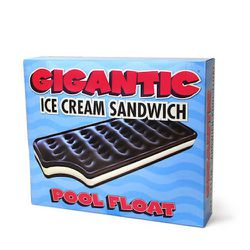 """""""If you aren't the dress-up type at all, then revel in all things kitsch and casual. Perfect for a pool party or chilling in a city condo, these hilarious ice-cream-sandwich floats from <a href=""""http://judymaxwellhome.com/"""">Judy Maxwell Home</a> scream s"""