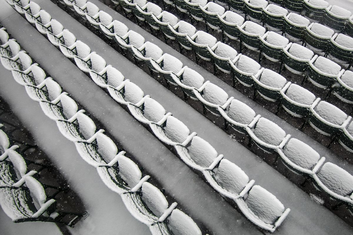 Fenway Park Snow