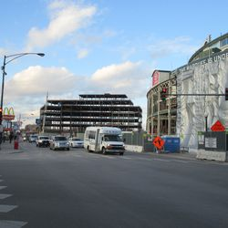 Fri 12/18: Looking north from Clark & Addison -