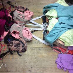 clothing on the floor