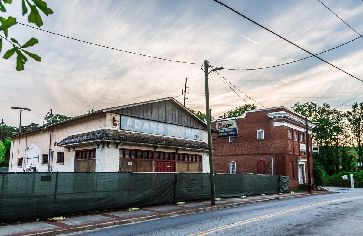 Former Adams Hardware store on Marietta Road