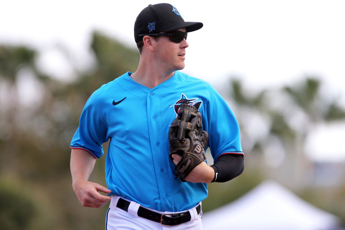 Brian Anderson Miami Marlins Spring Training Baseball Player Jersey