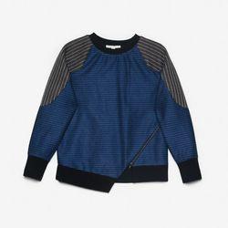 """Jonathan Simkhai pinstripe sweater, <a href=""""http://www.oaknyc.com/jonathan-simkhai-pinstripe-combo-sweater.html"""">$445</a> at Oak"""